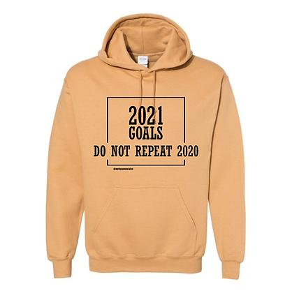 2021 Goals Hoodie (Block) - Gold