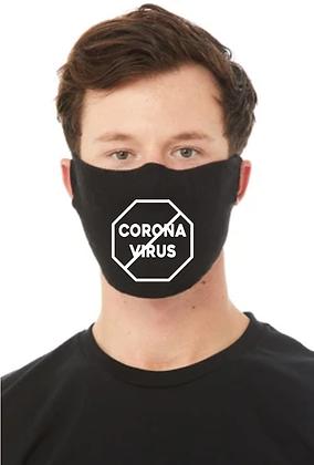 Stop Corona Virus (COVID-19) Face Mask (Black/White)