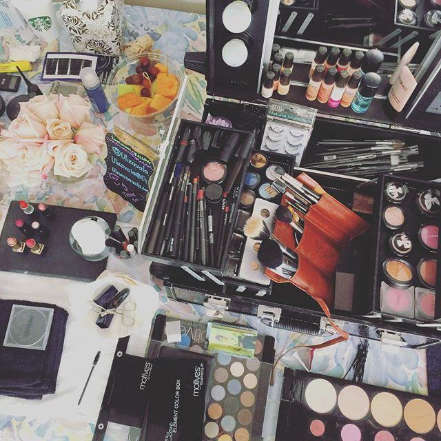 Instagram - Work in process #weddings #makeup #HairDesigner #harmony #FlowerArrangement #siliconvall