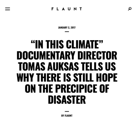 """""""IN THIS CLIMATE"""" DOCUMENTARY"""