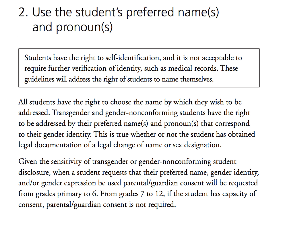 Guidelines for Supporting Transgender and GNC Students