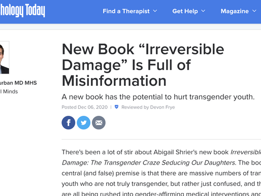 Reversing the damage of misinformation: truth of trans affirming healthcare for children