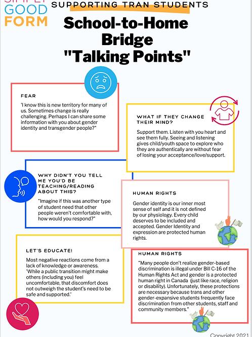 School-To-Home Bridge: Talking Points