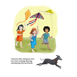 Briar and friends flying kites