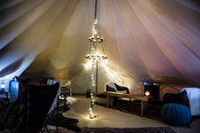 Royal Lounge tent by night
