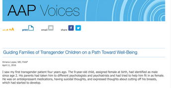 Guiding Families of Transgender Children on a Path Toward Well-Being