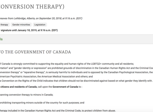 Ally Alert: Help ban conversion therapy in Canada