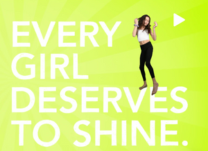 Caption Every Girl Deserves To Shine with dancing girl.
