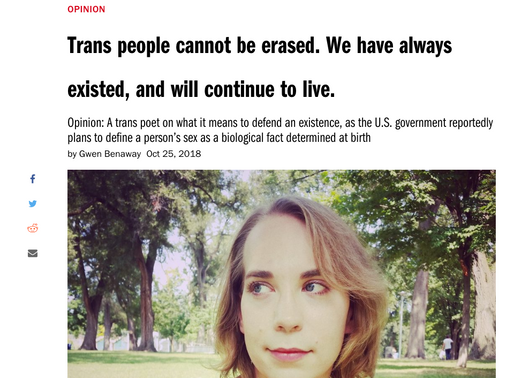 Macleans: Trans people cannot be erased. We have always existed, and will continue to live.