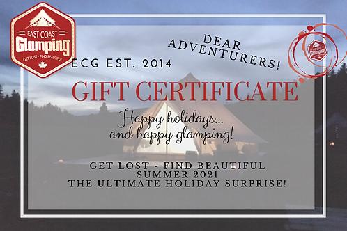 Glamping Gift Certificates