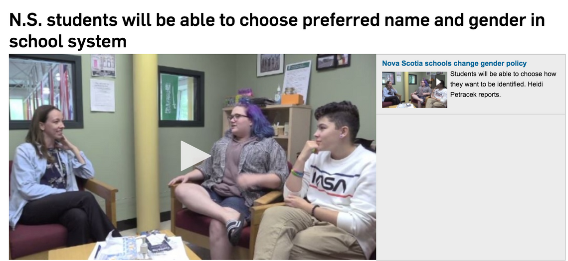NS Schools Preferred Name and Gender