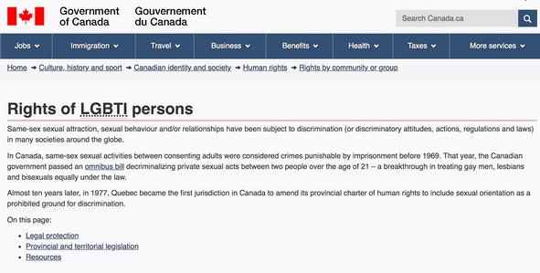 Canadian Government LGBTI