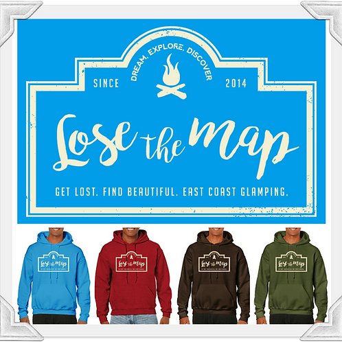 Lose The Map Hooded Pull-Over
