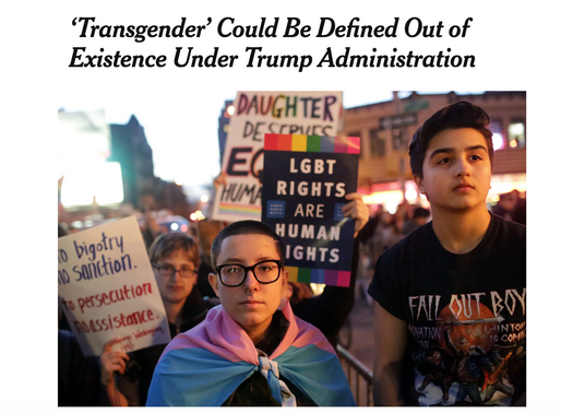 NY Times: 'Transgender' Could Be Defined Out of Existence Under Trump Administration