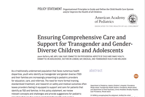 Ensuring Comprehensive Care and Support for Transgender and Gender-Diverse Children and Adolescents