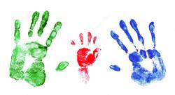 family-handprints-set-palm-prints-man-wo