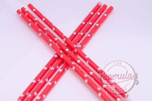 Sorbetes Rojos con estrellitas