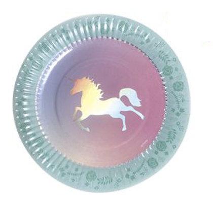 Platos Unicornio Redondos