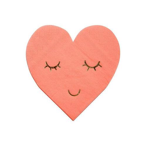Servilletas Corazón rosa fuerte