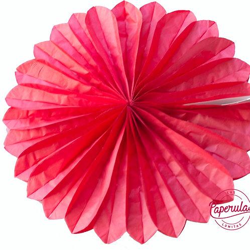 Roseta de papel - Roja
