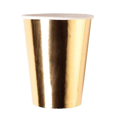 Vasos Metalizados Dorados