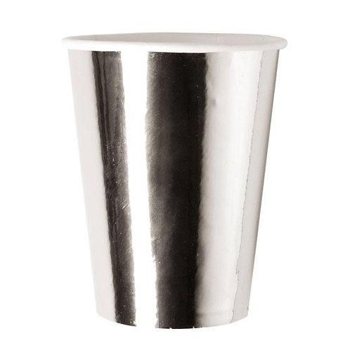 Vasos Metalizados Plateados
