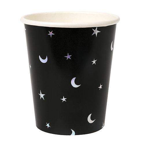 Vasos estrellas y lunas
