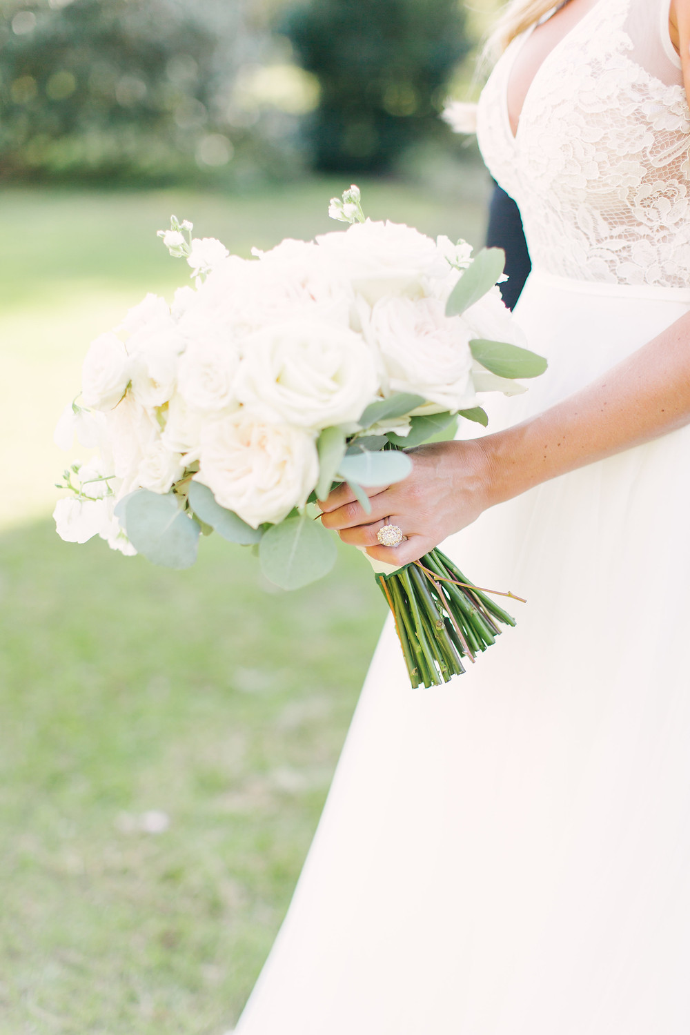 White Wedding Bouquet - Let Destiny Design - Sarahdipity Photography