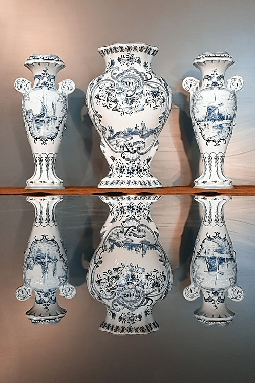 DELFT 18th Century Vase set.