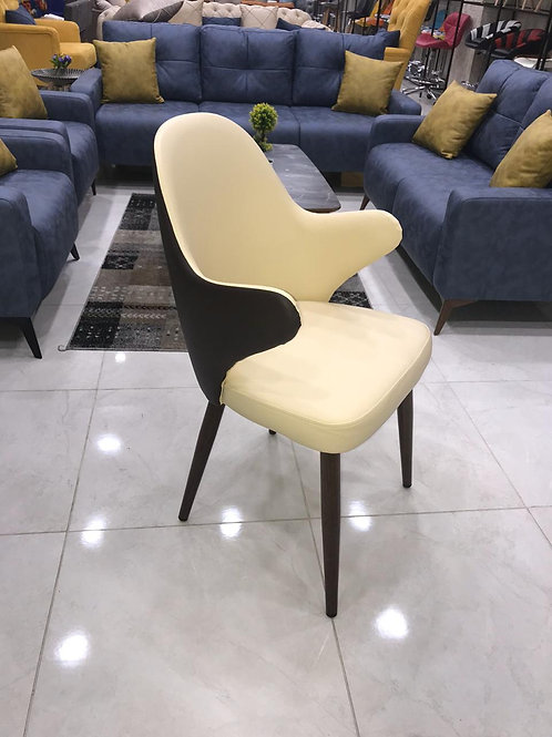 Steel upholstered chair