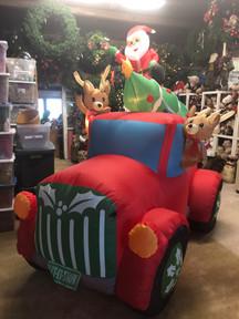 Santa and Deer on Truck