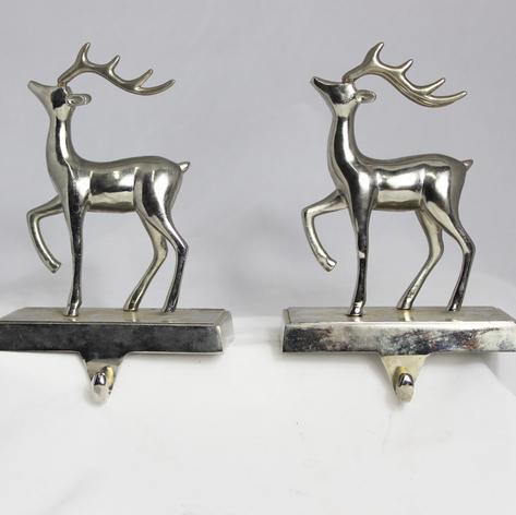 two silver deer