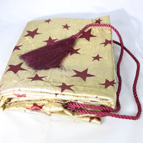 Santa Bag - red stars