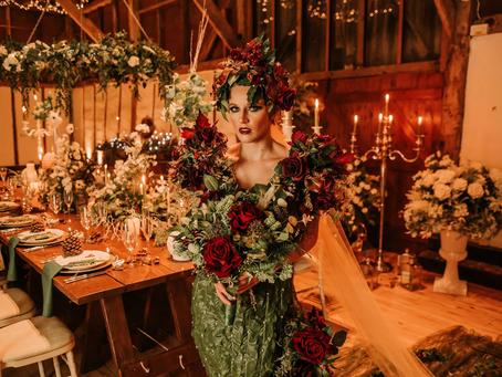 Enchanting winter wedding