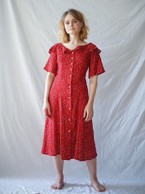"""Платье """"Москва"""" в красном цвете"""