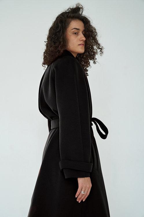 """Черное пальто """"Реглан"""""""