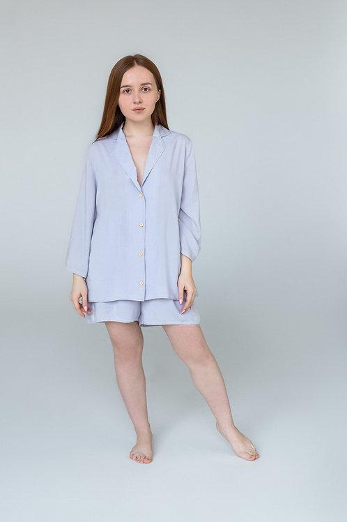 Лавандовая пижама с шортами