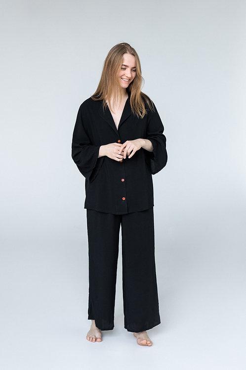 Черная пижама со штанами