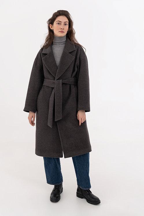 Зимнее пальто мужского кроя