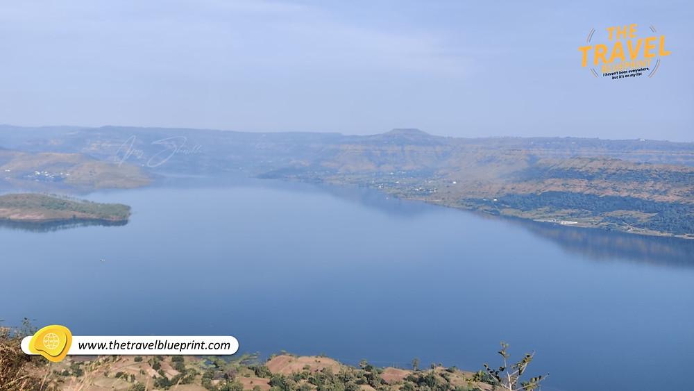 Urmodi Dam: Aerial View From Sajjangad Fort Near Hanuman Waterfall/Temple