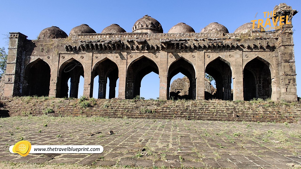 Pathan style of architecture, the mosque has seven arches in its facade at Gawilgarh Fort