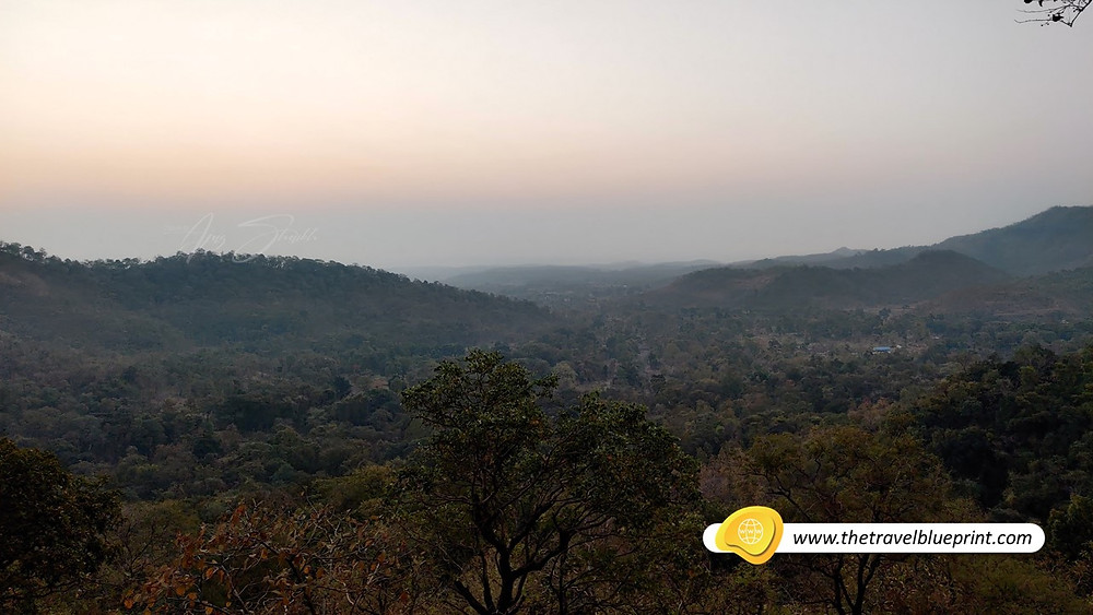 View from Koti plateau just before sunrise