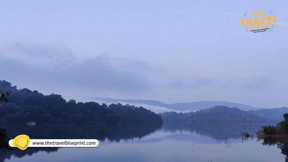 Early morning just around sunrise at Koyna Lake