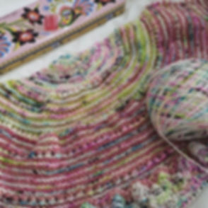 My mystery kal #snowmeltshawl that was s