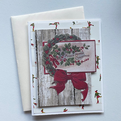 Vintage Ephemera Christmas Card