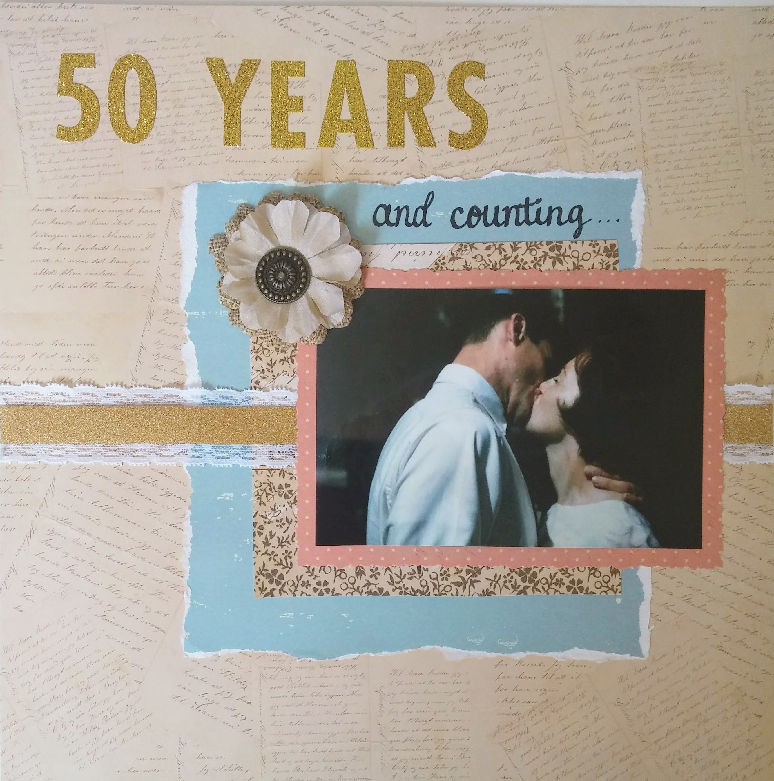 50th Anniversary Scrapbook