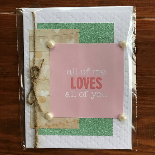 Love All of You Card