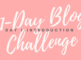 31-Day Blog Challenge: Introduction