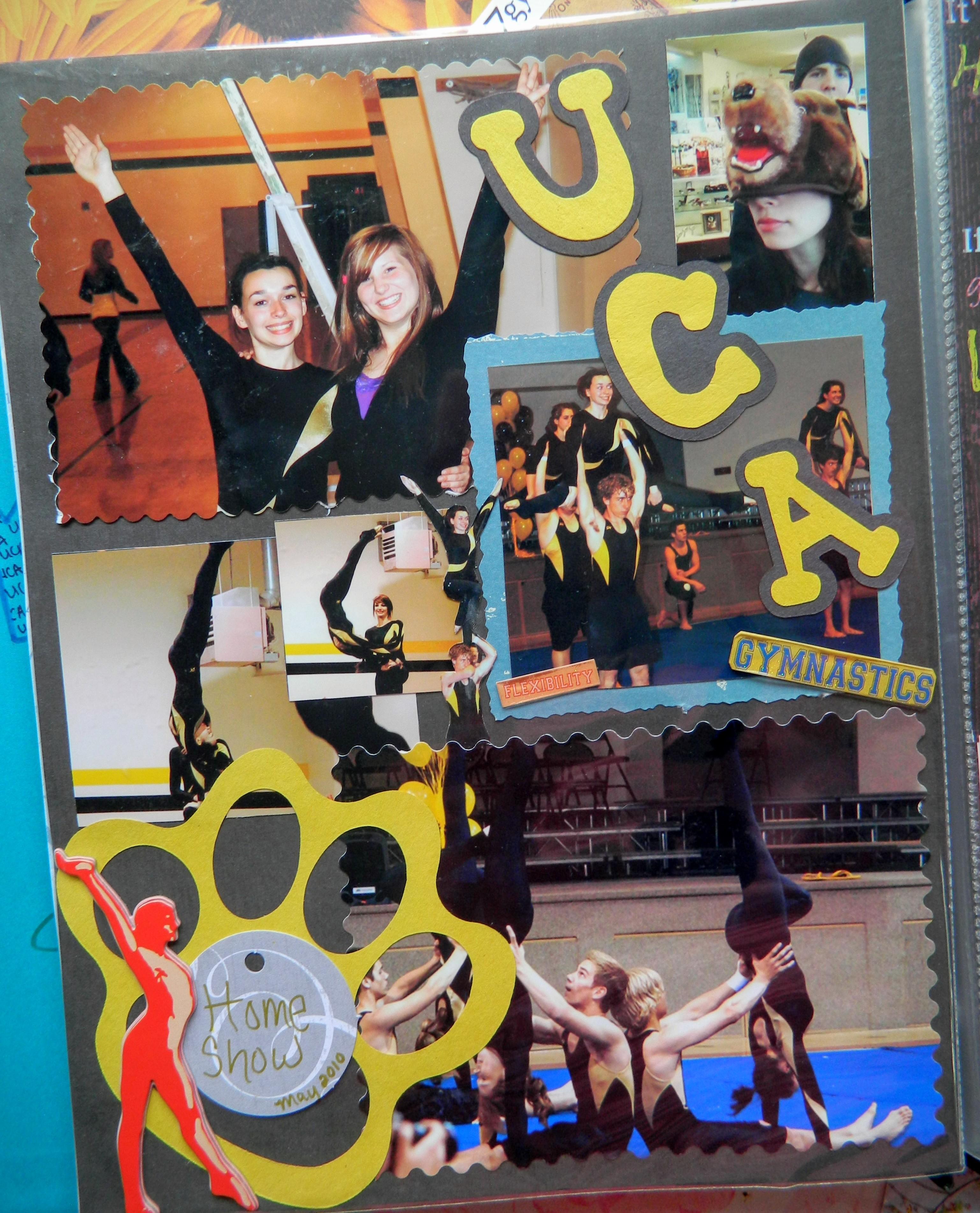 gymnastics scrapbook