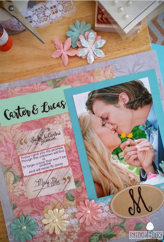 Wedding Scrapbook Layout